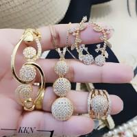 Xuping Set Perhiasan Lapis Emas 24k F104