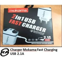 CHARGER HP CASAN HP TRAVEL CHARGER MOKAMA 2in1 USB 2.1A