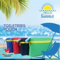 pouch travel kit, serbaguna,warna warni, pouch alat mandi, anti air - birutua