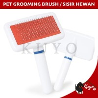 Sisir Sikat Kawat Bulu Hewan Pet Grooming Brush Anjing Kucing Hewan