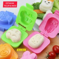 Cetakan Telur Nasi Mooncake Mochi Bento Tools Rice Mold Boiled Egg