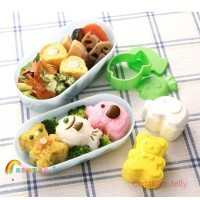 Cetakan Nasi Bento Bear, Elephant & Fish Rice Mold