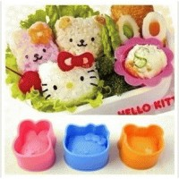 Cetakan Nasi / Rice Mold /Bento Tools 3 in 1 1 set isi 3 HK+Bear+Bunny