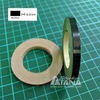 Lis Pelek Polos (Strip/List Velg) Hitam 1/2cm Scotlite Sticker