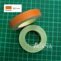 Lis Pelek Polos (Strip/List Velg) Oranye / Orange 1cm Scotlite Sticker