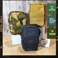Tas Gadget pinggang / Dompet Sarung Hp Army dengan Tali Strap Bahu