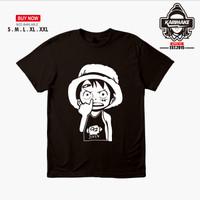 Kaos Baju Anime One Piece Luffy Konyol Kaos Anime - Karimake