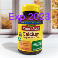 Nature Made Calcium Magnesium Zinc with Vitamin D3 100 Tablets
