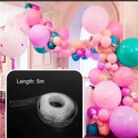 Pvc Transparan Stripe Tape Balon Dekor 5m / Balloon arch