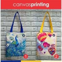 tas tote bag print/kanvas / tote bag warna/ motif/ bukan korea/ hadiah