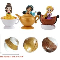 Figure Disney Princess Belle Jasmine Rapunzel Capchara Gashapon