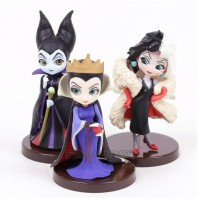 Maleficent Evil Queen Cruella Qposket Figure DIsney VIllain Q Posket