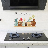 "Stiker Wallpaper Dinding Dapur Anti-Minyak (""The Taste of Happiness"")"