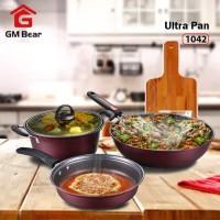 GM Bear Panci Teflon 1 Set 3 pcs 1042-Panci Teflon Set 3