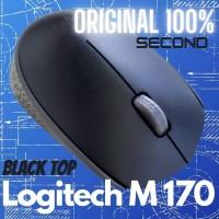 Mouse Wireless Wireles Gaming Logitech M170 Asli Original Second Murah