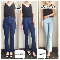 Celana Highwaist Cutbray Jeans Wanita Highwaist Cutbray 4553