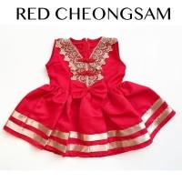 RED CHEONGSAM dress anak perempuan dress bayi babeebabyshop