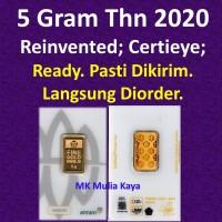 5 Gram Emas Batangan Logam Mulia LM Sertifikat Asli Antam MURAH 5Gram.