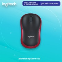 MOUSE LOGITECH WRLESS M185 RED