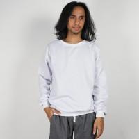 Daily Outfits Sweater Basic Crewneck Pria Wanita Sweaterpolos Putih