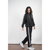 Stelan Checkeredboard Hoodie Sweater dan Celana Sweatpants Unisex