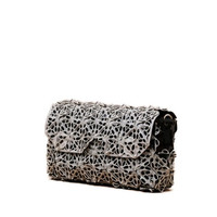 Cycle Clutch Small in White-Black