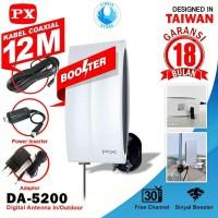 PX DA-5200 Antena TV Digital Analog Indoor Outdoor - GARANSI 18 BULAN