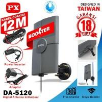 PX DA-5120 Antena TV Digital Analog Indoor Outdoor - GARANSI 18 BULAN