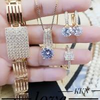 Xuping Set Perhiasan Lapis Emas 24k f1237