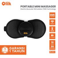 Qlik Portable Mini Massager / Alat Pijat Elektrik Remote / Alat Terapi