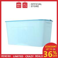 MINISO Kotak Penyimpanan Storage Box Baju Multifungsi Ukuran Besar - Biru Muda