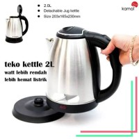 ELECTRIC KETTLE STAINLESS STEEL 2 L / TEKO LISTRIK PEMANAS AIR 2L [KS]