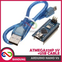 [CNC] ARDUINO NANO V3 3.0 ATMEGA328P CH340 CH340G 5V BOARD + USB CABLE