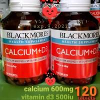 BLACKMORES CALCIUM 600MG + VITAMIN D3 500IU 120 TABLETS 100%ORIGINAL