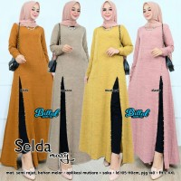 Selda maxy long slit dress