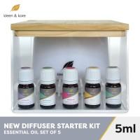 Essential Oil Diffuser Set + Box + 5 Essential Oil | Gift Set Atsiri