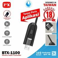 PX BTX-1100 USB Audio Transmitter Bluetooth HD Stereo - Tanpa Driver