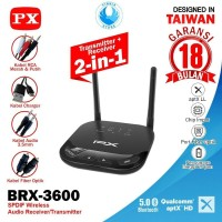 PX BRX-3600 2in1 Bluetooth Audio Receiver and Transmitter HD Stereo