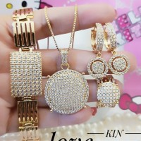 Xuping Set Perhiasan Lapis Emas 24k h1427