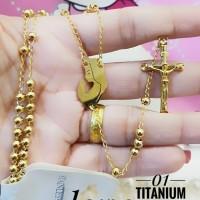Titanium Kalung Rosario 1417