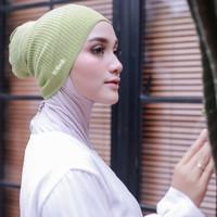 Ciput Rajut nabnib / inner rajut Premium / Model Kupluk / Inner hijab - Camel