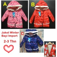 Jaket bayi perempuan Jaket anak cewek coat mantel baju hangat bayi