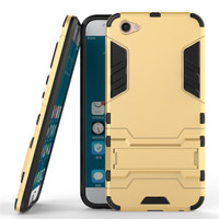 Vivo X9 / V5 PLUS IRON MAN Armor Case ROBOT w/ kickstand TPU + PC - GOLD