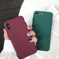 FOR IPHONE X/XS, XR, XS MAX - GREEN ARMY WINE RED SOFT CASE CASING