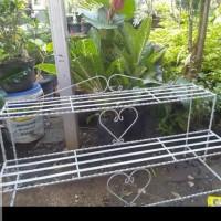 rak besi tanaman hias 2 susun panjang 100 cm lebar 40 cm tinggi 50 cm