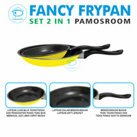 Maspion Fancy Set 2 pcs Frypan Set 23cm + 18 cm Warna Warni