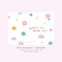 Moon Pancake Mini Art Print / Postcard - Don't Go Near Me