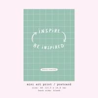 Moon Pancake Mini Art Print / Postcard - Inspire Be Inspired