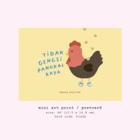 Moon Pancake Mini Art Print / Postcard - Tidak Gengsi Pangkal Kaya