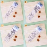 Floral DIY Masking Tape and Coloring Pencils Set / Pensil Warna